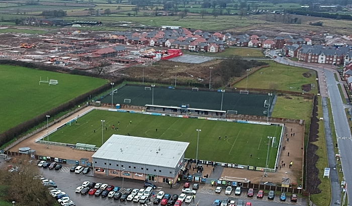 Aerial view of Nantwich Town v Stafford Rangers