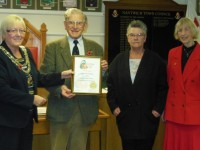 Nantwich in Bloom honoured by town council for North West Gold award