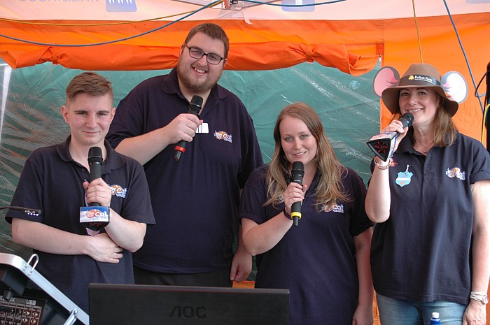 Presenters from The Cat 107.9 FM community radio station