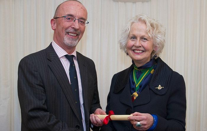 Fellow - Principal Meredydd David with Miss Rosie Carne