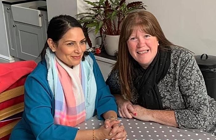Priti Patel and Rachel Wright