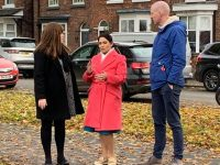 Home Secretary Priti Patel visits Nantwich to meet Barony Park campaigners