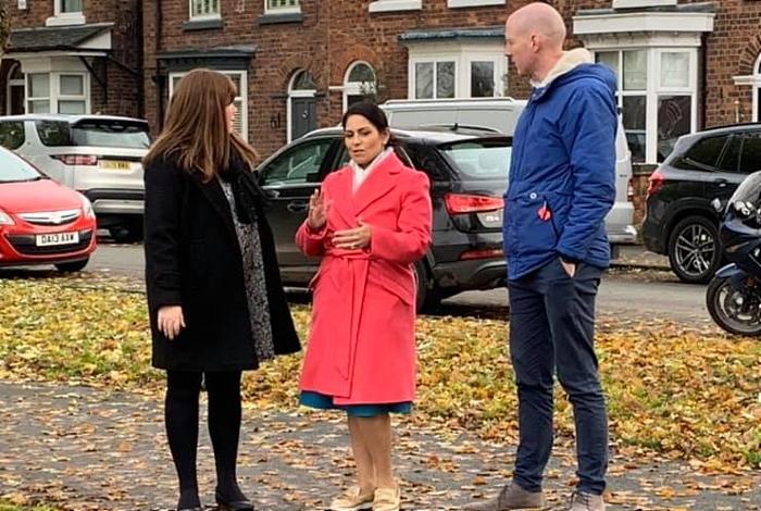 Priti Patel visits Nantwich