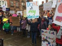 Hundreds protest in Nantwich town square over Govt school funding plans