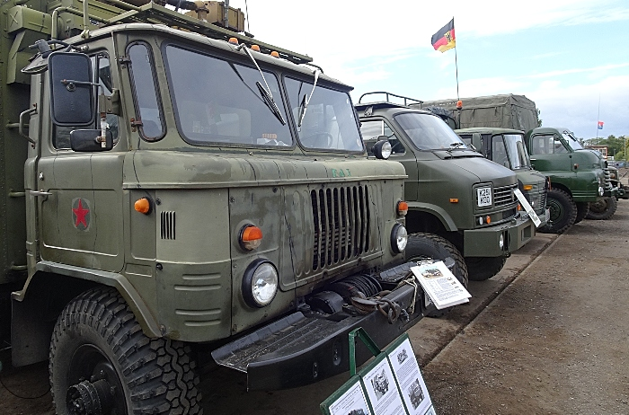 Publicity photo - Military vehicles on display in 2018 (1)