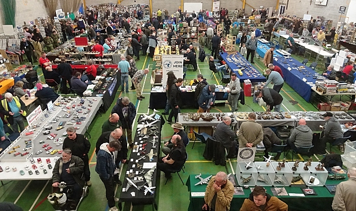 Publicity photo - military modelling exhibitors in the Sports Hall (1)