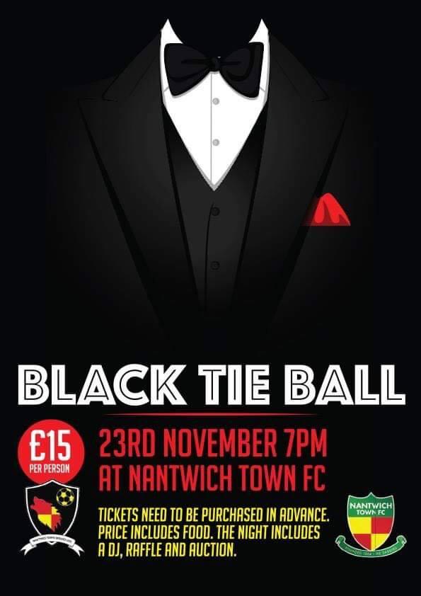 Publicity poster - Black Tie Ball - Nantwich - Sat 23-11-19