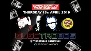 Publicity poster - Electro 80s - Studio Nantwich - Thursday 18th April 2019 (1)