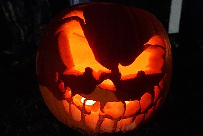 Pumpkin entry in the childrens best pumpkin competition