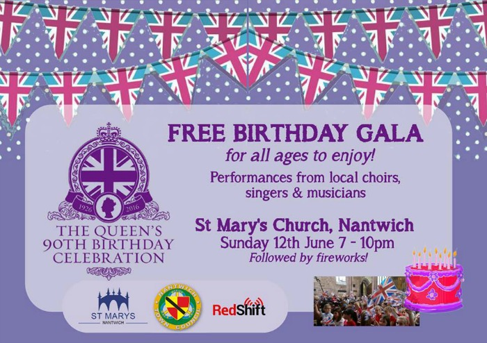 Queen 90th birthday gala, Nantwich