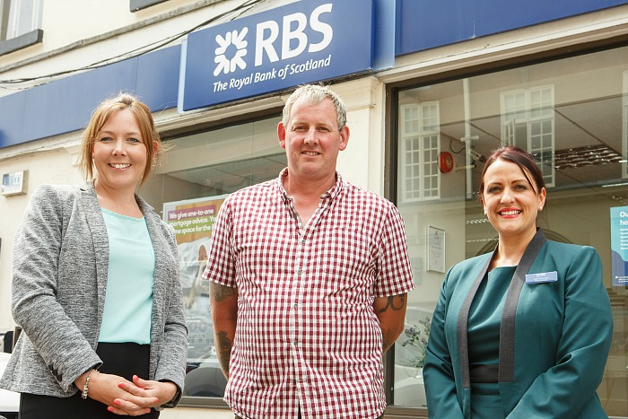 Royal Bank Of Scotland winner Pete at the Nantwich Branch, on Pillory Street.