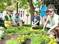 Commemorative flower bed marks Reaseheath College centenary