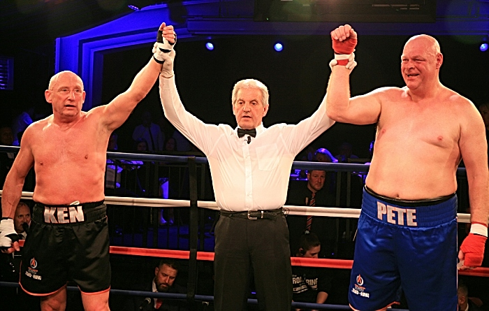 ROAD TO THE RING 5. Referee Joh Blackledge declares the bout a draw. Picture Courtesy of Tim Jervis Professional Photography