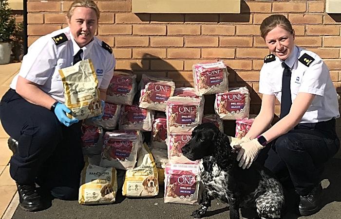 RSPCA inspectors deliver pet food