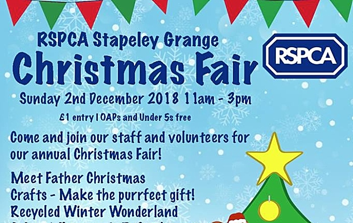RSPCA wildlife centre christmas fair
