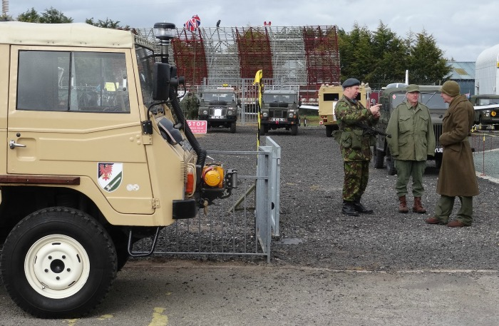 Cold War - Re-enactors in uniform and military vehicles