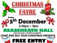 Students to stage Christmas Fayre in aid of Macmillan Cancer