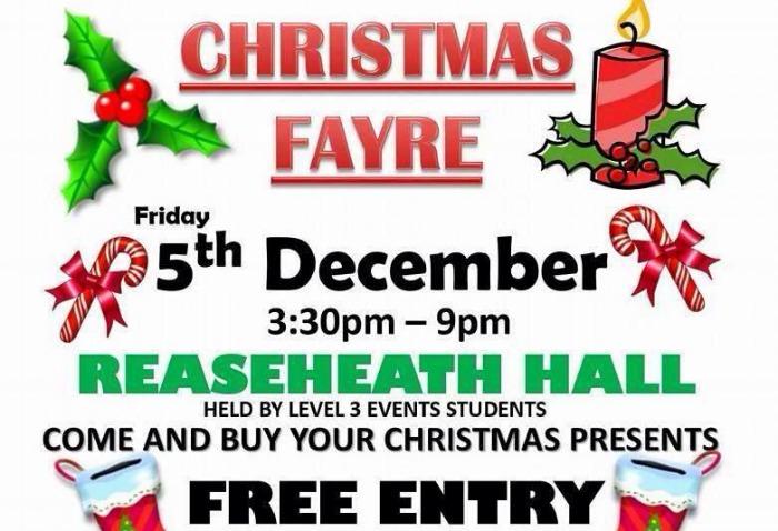 Reaseheath Hall Christmas Fayre