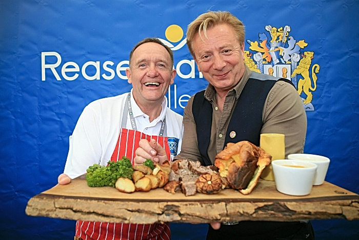 Reaseheath's Master Butcher Gary Evans with Corrie star turned cheesemaker Sean Wilson (1)