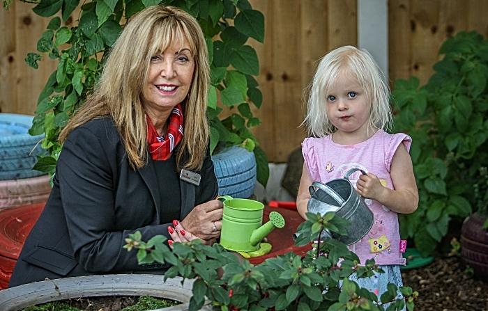 sensory garden - Rebeccas Day Nursery - Sylvia Dixon with Jessica