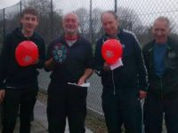 "Wistaston tennis players raise ""Red Nose Day"" cash for Comic Relief"