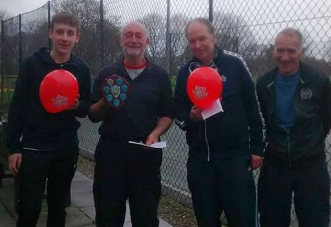 """Wistaston tennis players raise """"Red Nose Day"""" cash for Comic Relief"""