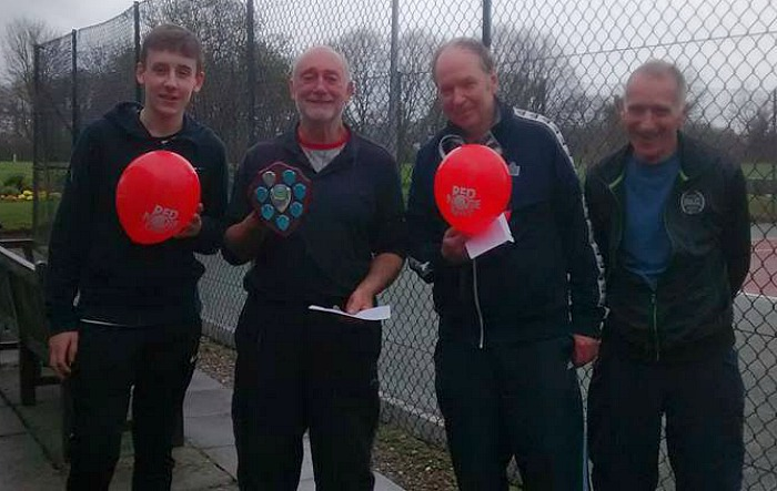 Red Nose Day - l-r George Raiswell – Eric James – Rob Sheffield – Tony Mason
