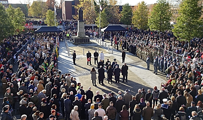 Remembrance Sunday service on Memorial Square (2) (1)