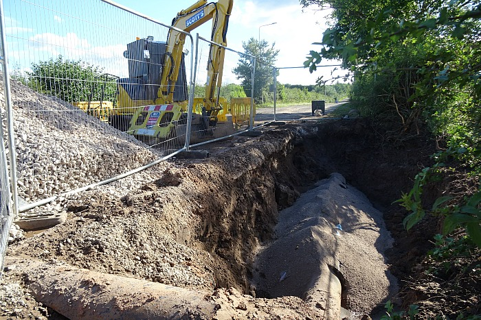 Repair work close to Colleys Lane-Middlewich Road junction (1)