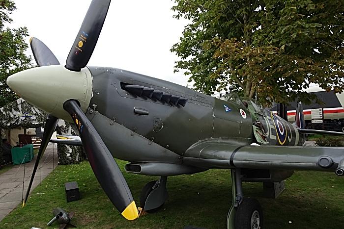Replica Spitfire fighter aircraft