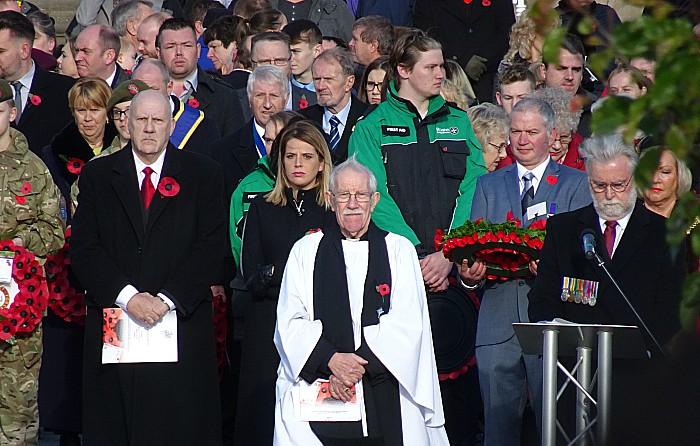 Reverend Ken Sambrook and local dignitaries in Crewe