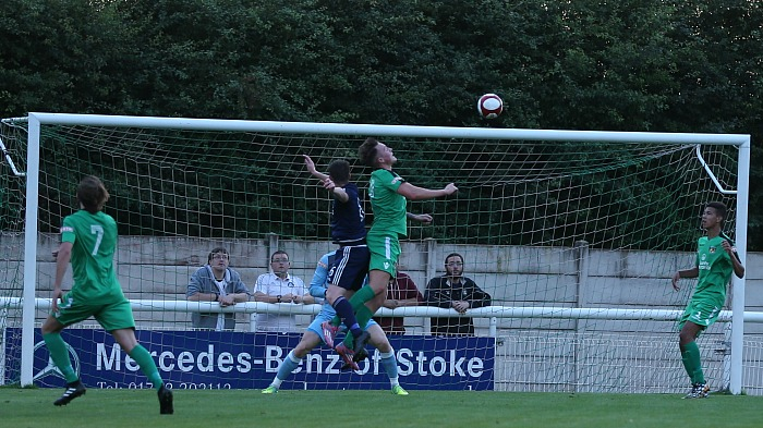 Rhyl score the first goal of the match
