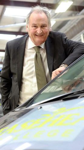 Richard Noble portrait with car