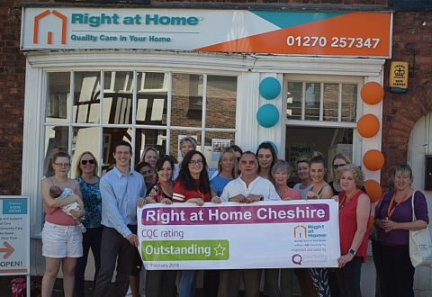 Nantwich-based Right at Home rated 'outstanding' in CQC inspection