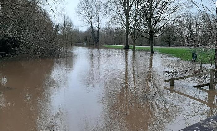 Flood - River Weaver Storm Dennis 1 - Feb 2020 - by Philip Card