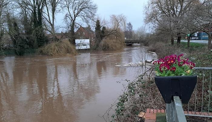 River Weaver Storm Dennis 2 - Feb 2020 - by Philip Card