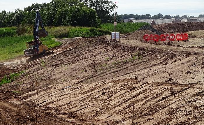 River Weaver floodplain cleared and channel dug (2) (1)