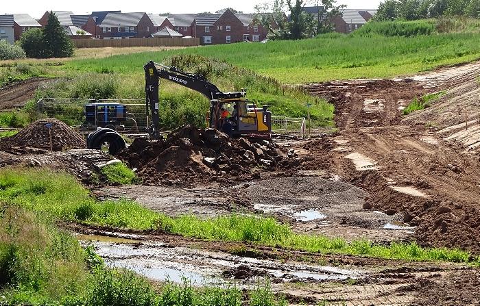 River Weaver floodplain cleared and channel dug (3) (1)