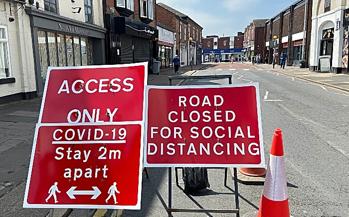 Covid costs - Road closed for social distancing - Beam Street in Nantwich (1)