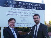 Football fan signed up by Nantwich finance firm Atherton