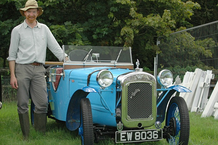 Robert Bunn from Crewe with his 1933 Austin 7 vintage car