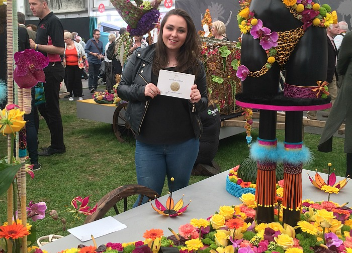 Robyn Longden on floristry college of yr stand