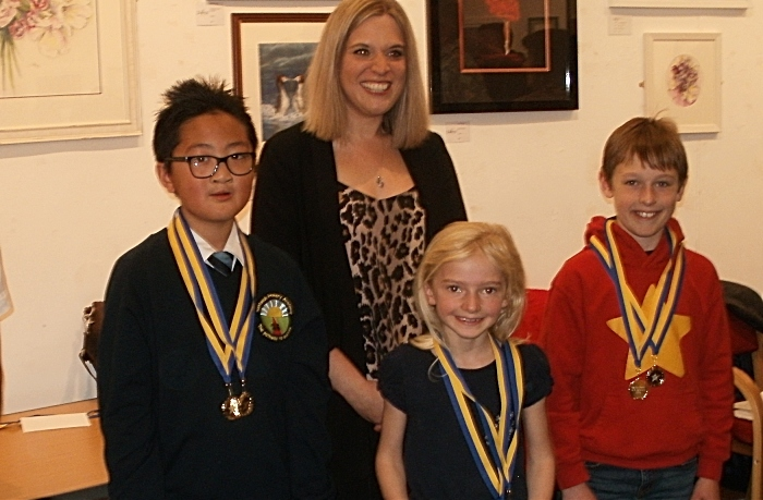 rotary art and handwriting competition winners