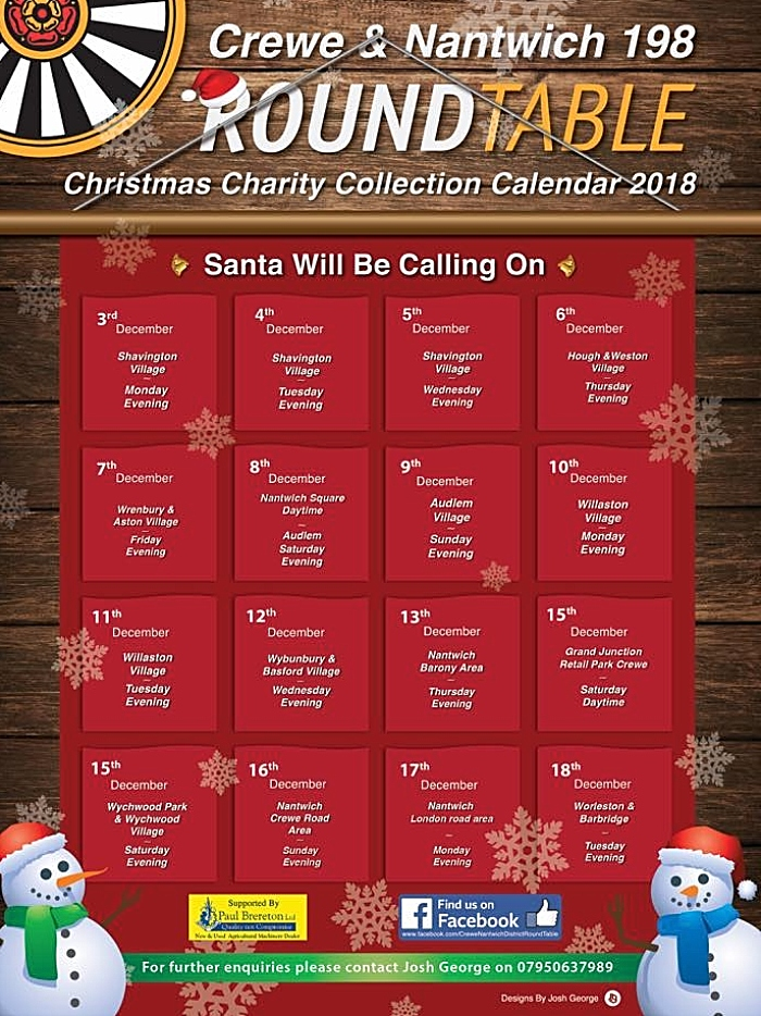 Round Table Santa calendar