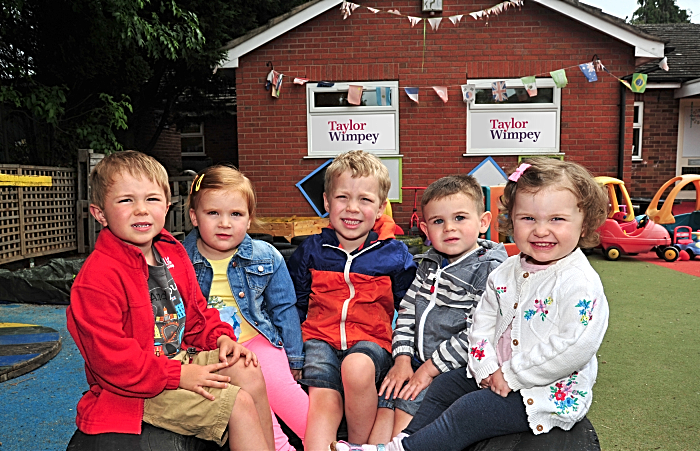 Roundabouts Day Nursery, in Shavington, is getting a garden revamp, thanks to Taylor Wimpey Manchester (1)