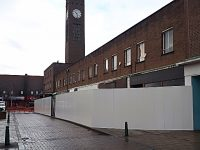 Hoardings installed in Crewe ahead of Royal Arcade demolition work
