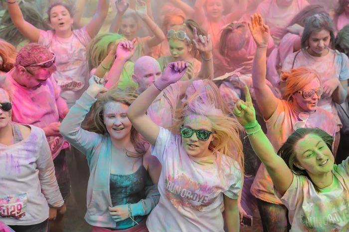 Run or Dye event in Cheshire
