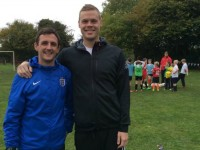 Stoke City star Ryan Shawcross trains with Nantwich youngsters