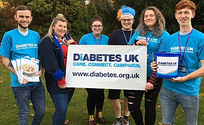 Diabetes UK - SA members Adam Kean, Mali Ratcliffe, Niccy McCluskey, Callum Hollis, Lisa Trodden, Cai Hanmer-Roberts (1)