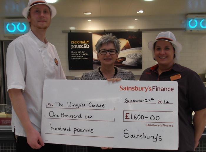 Sainsbury's cheese stall donates to WIngate Centre